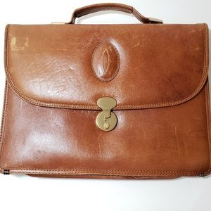 Vtg Cartier leather briefcase
